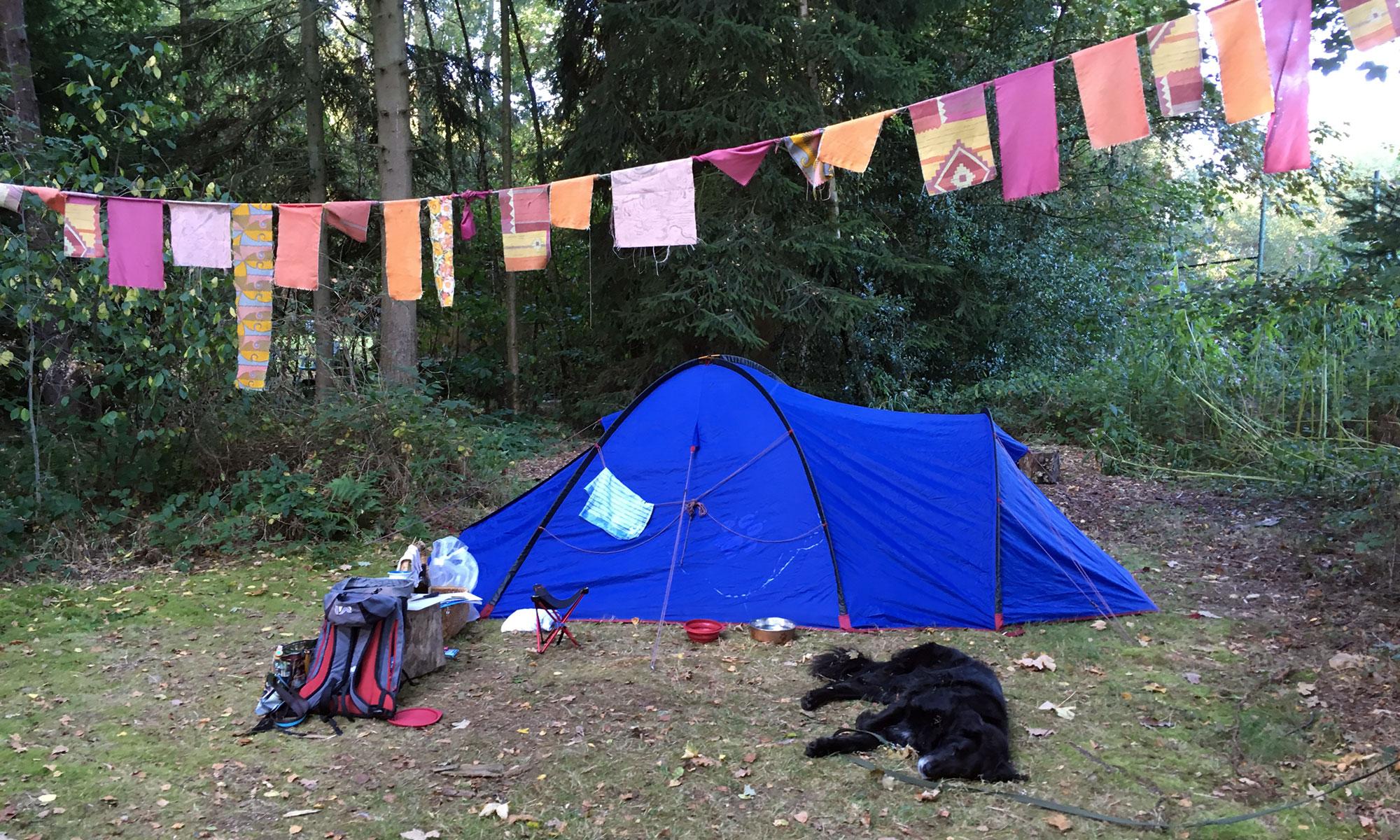 Das alte Jack Wolfskin Zelt