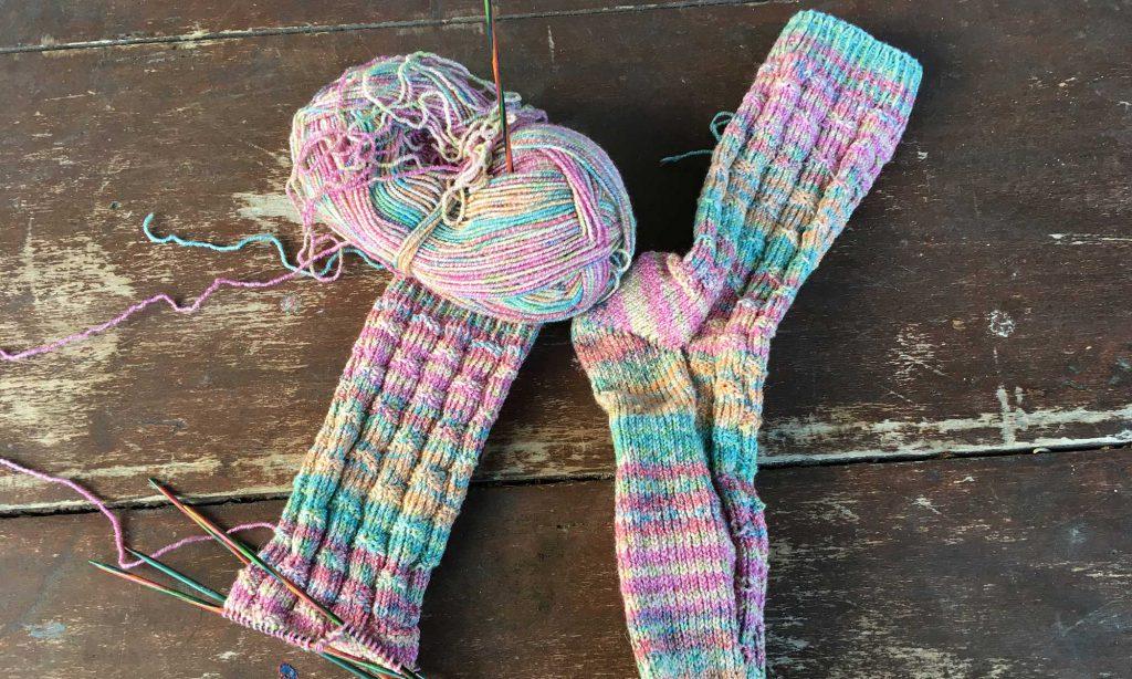 Hand gestrickte Socken