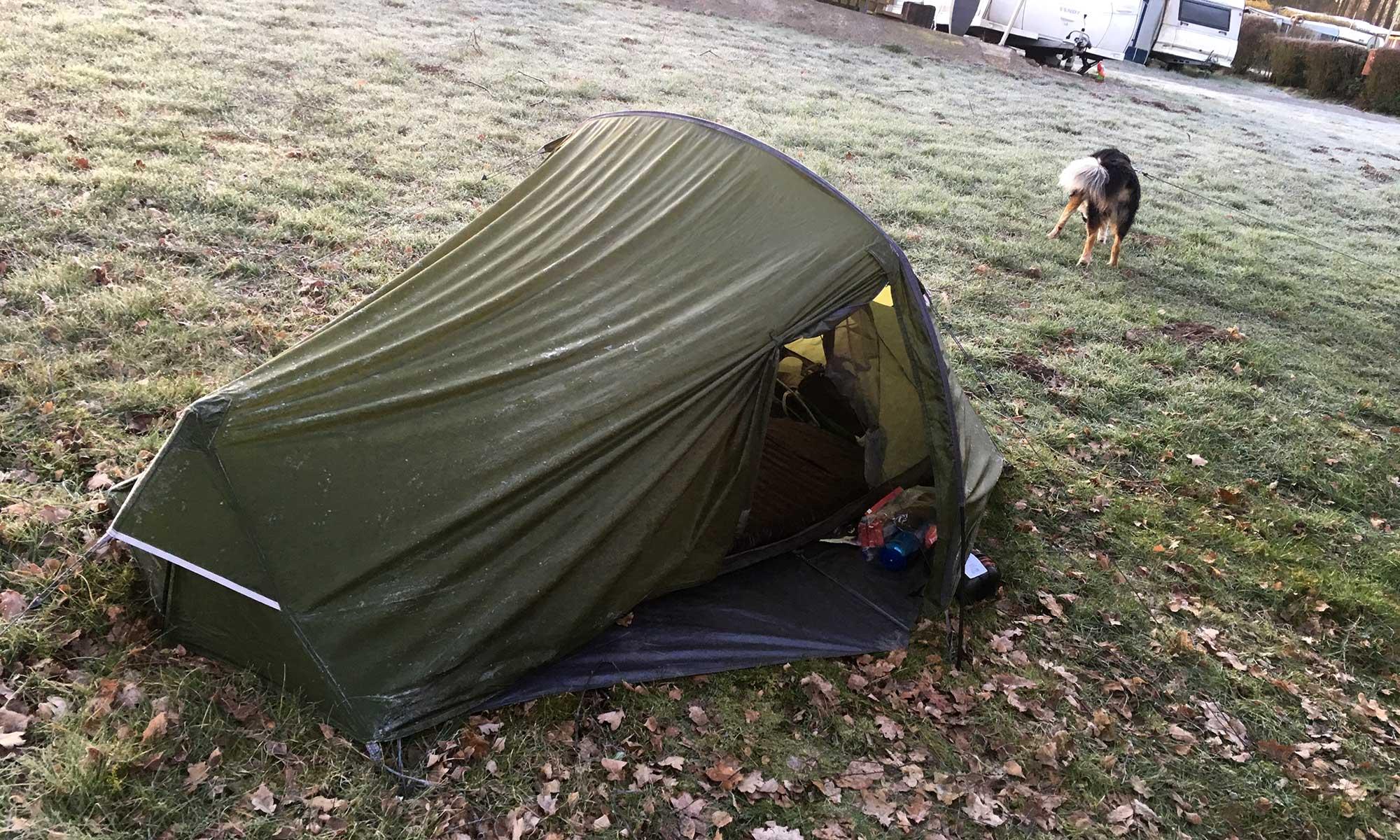 Mein vereistes Zelt