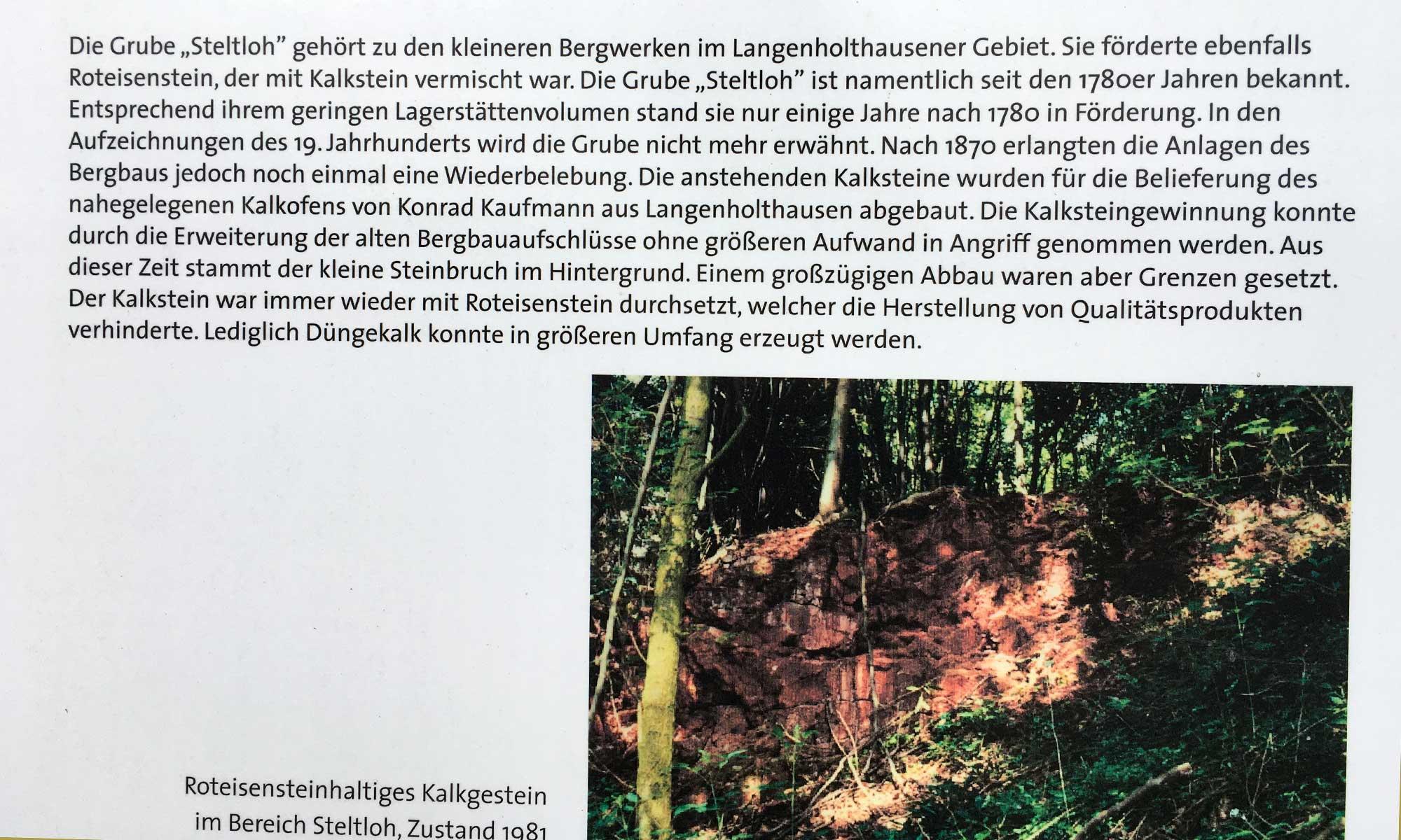 Langenholthausen Bergbau Tafel