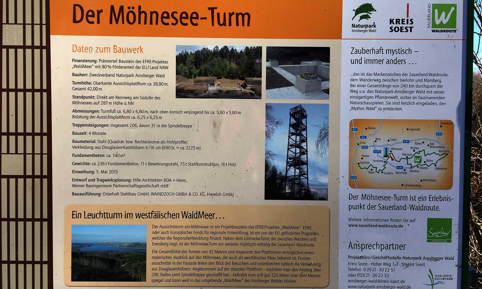 Karte am Möhnesee Turm