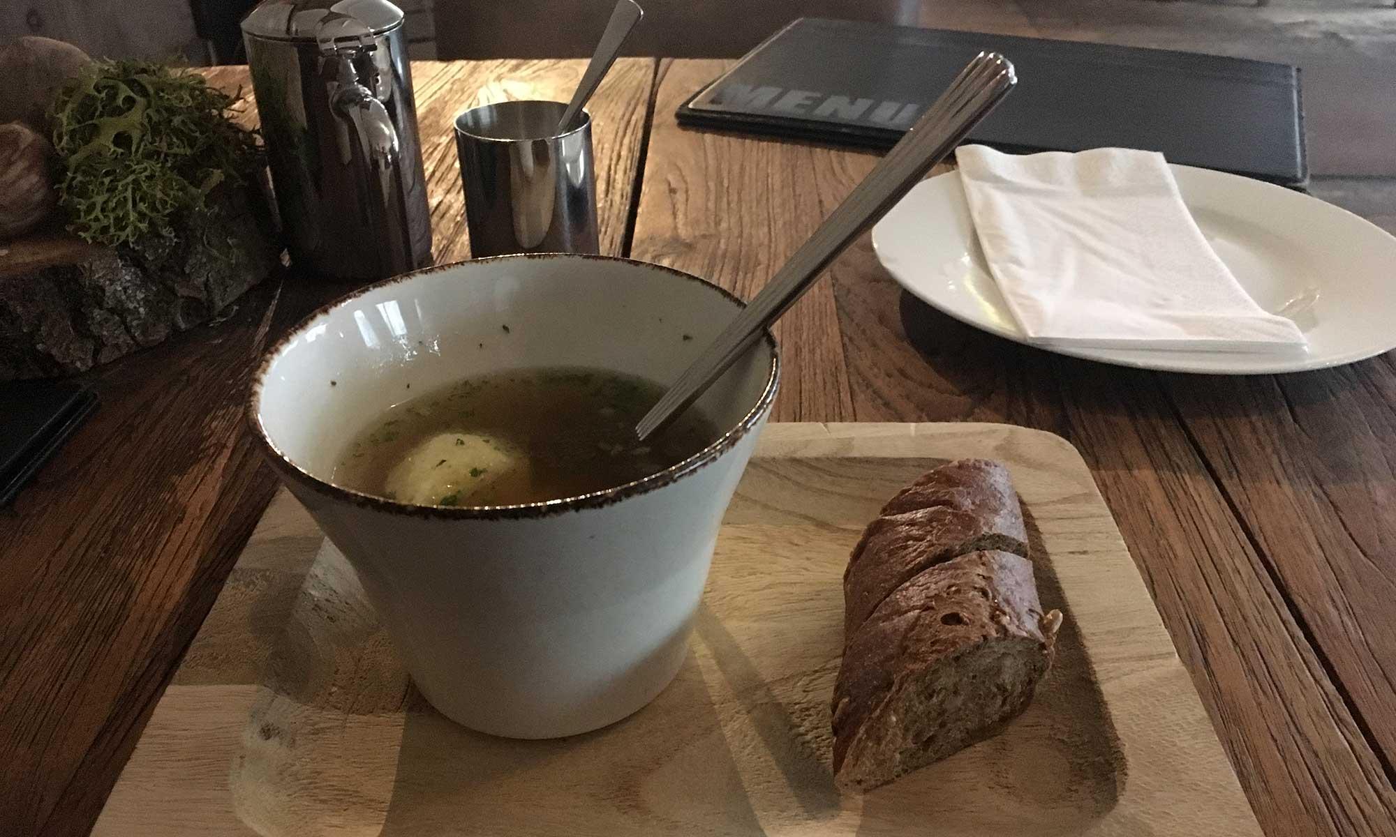 Eine warme Suppe