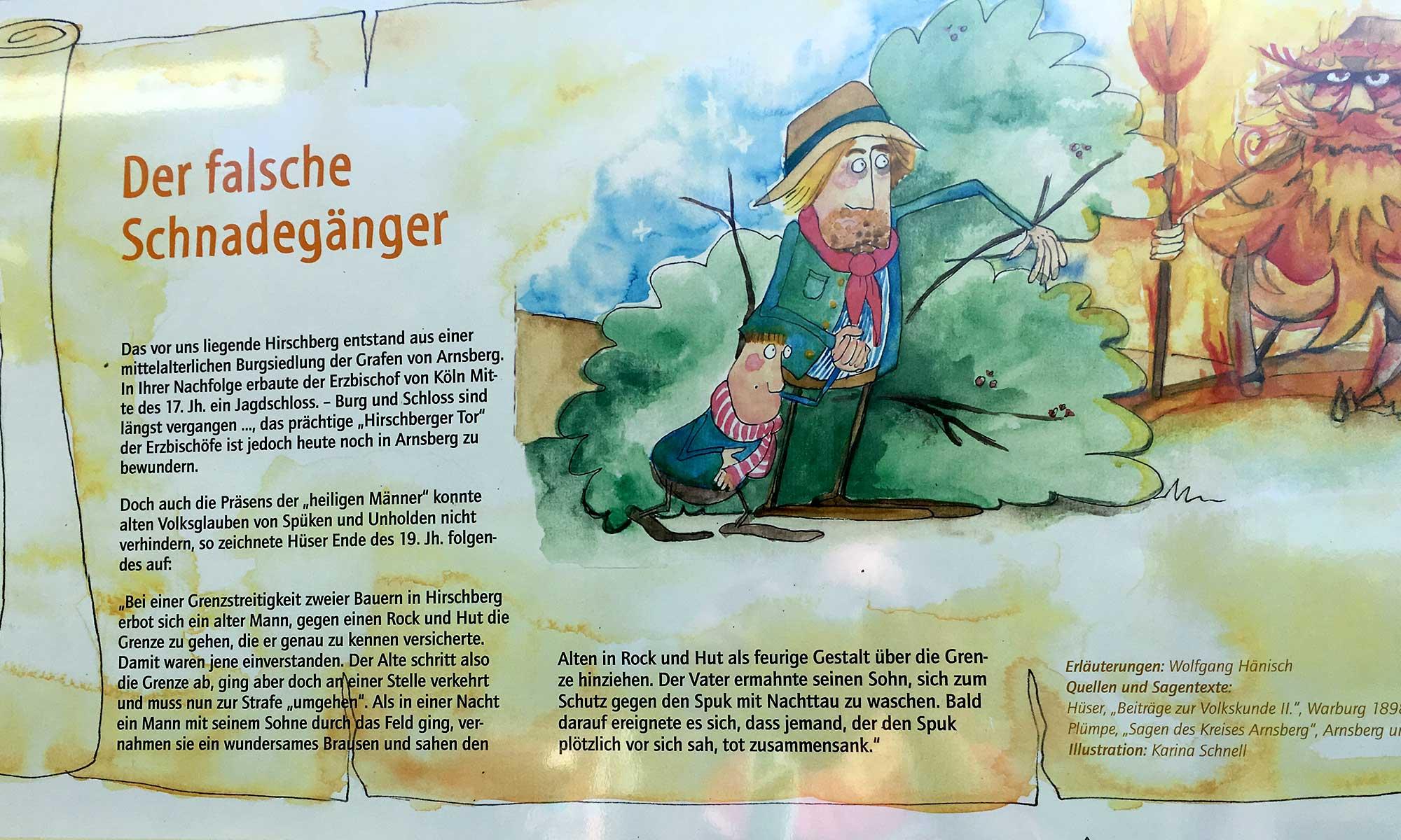 Sauerländer Waldroute Hirschberg Schnadegänger Sage