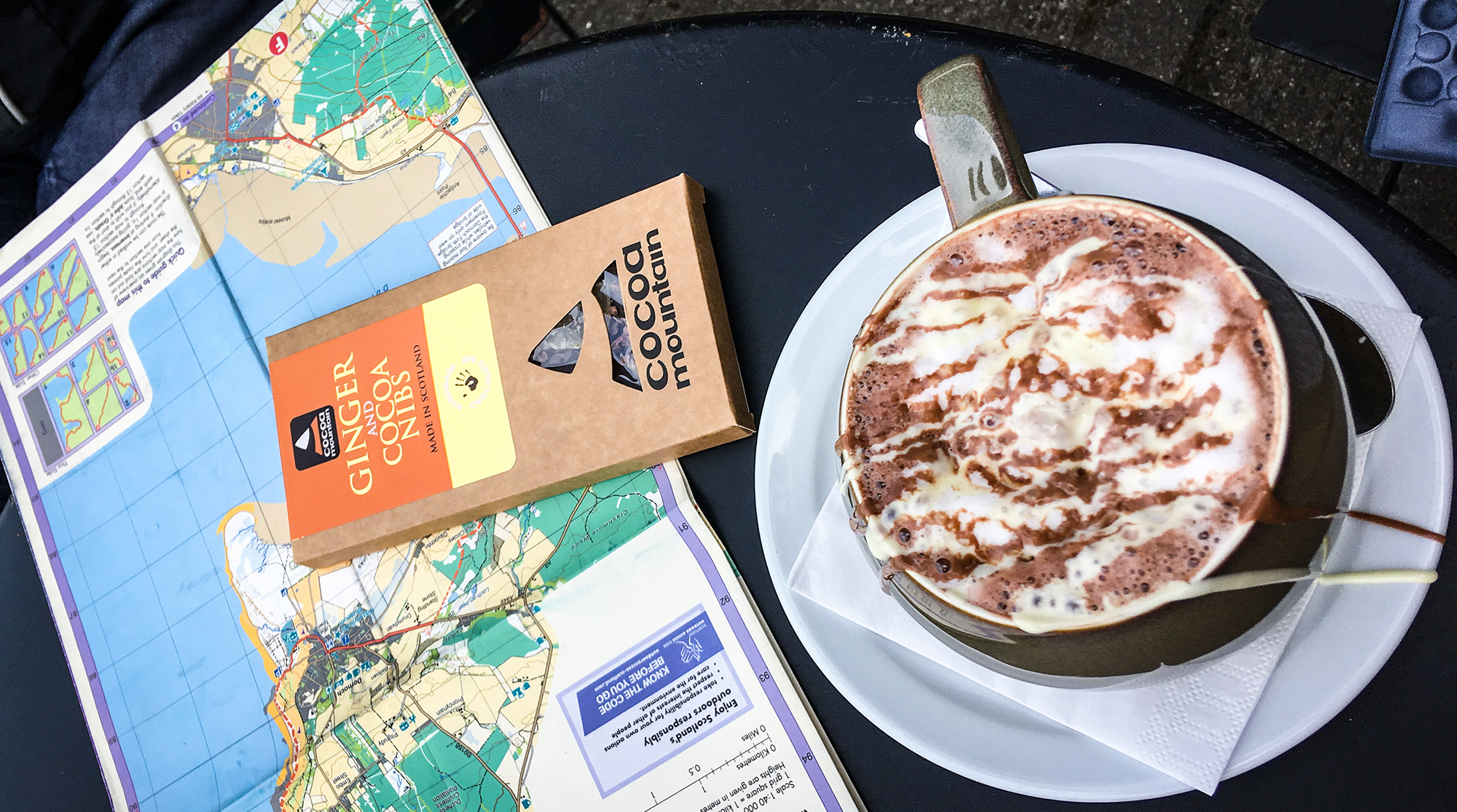 Cocoa Mountain Hot Chocolate, John o'Groats Trail Karte