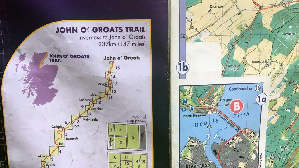 John o'Groats Map