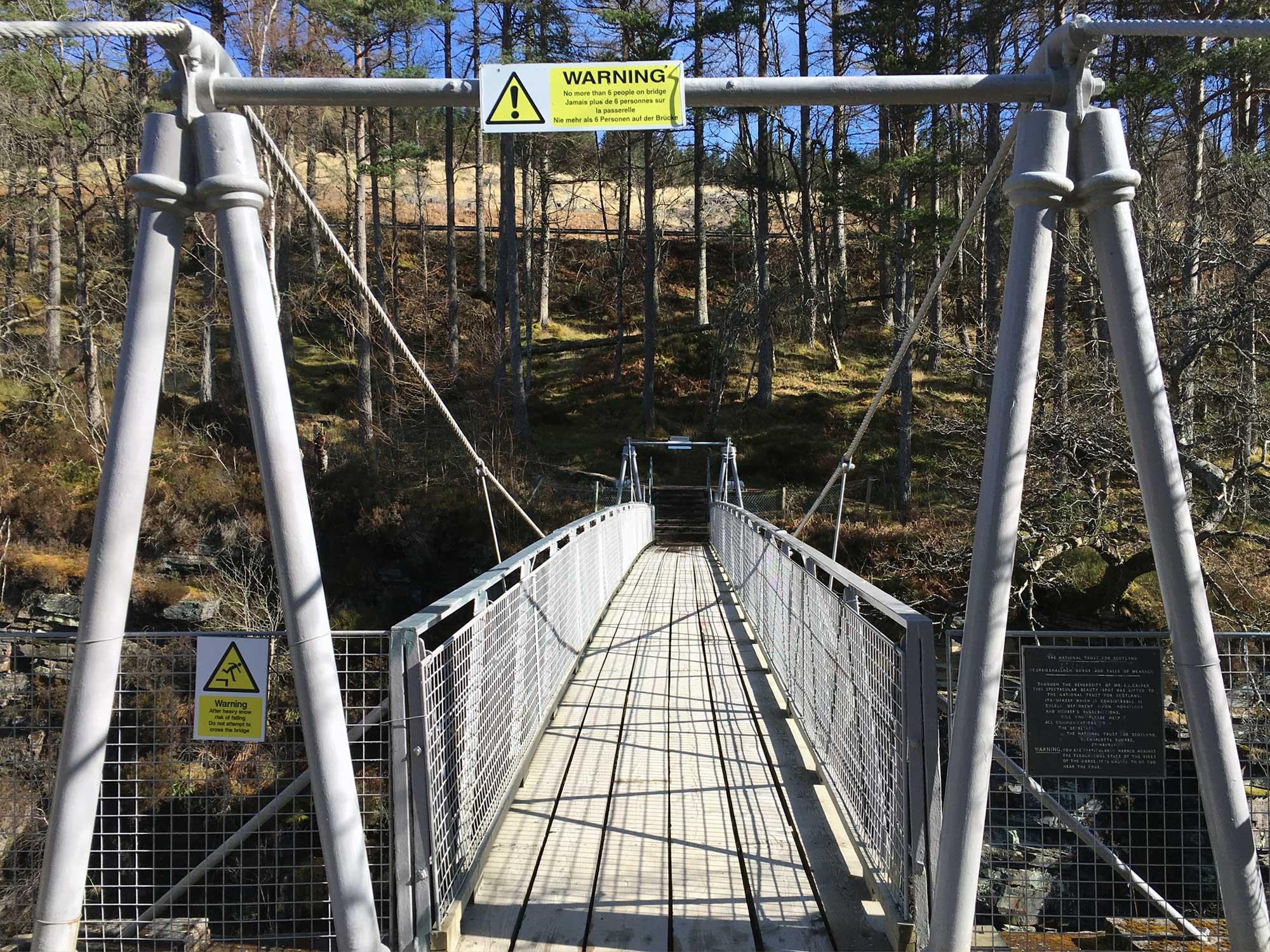 Die Brücke von Corrieshalloch Gorge