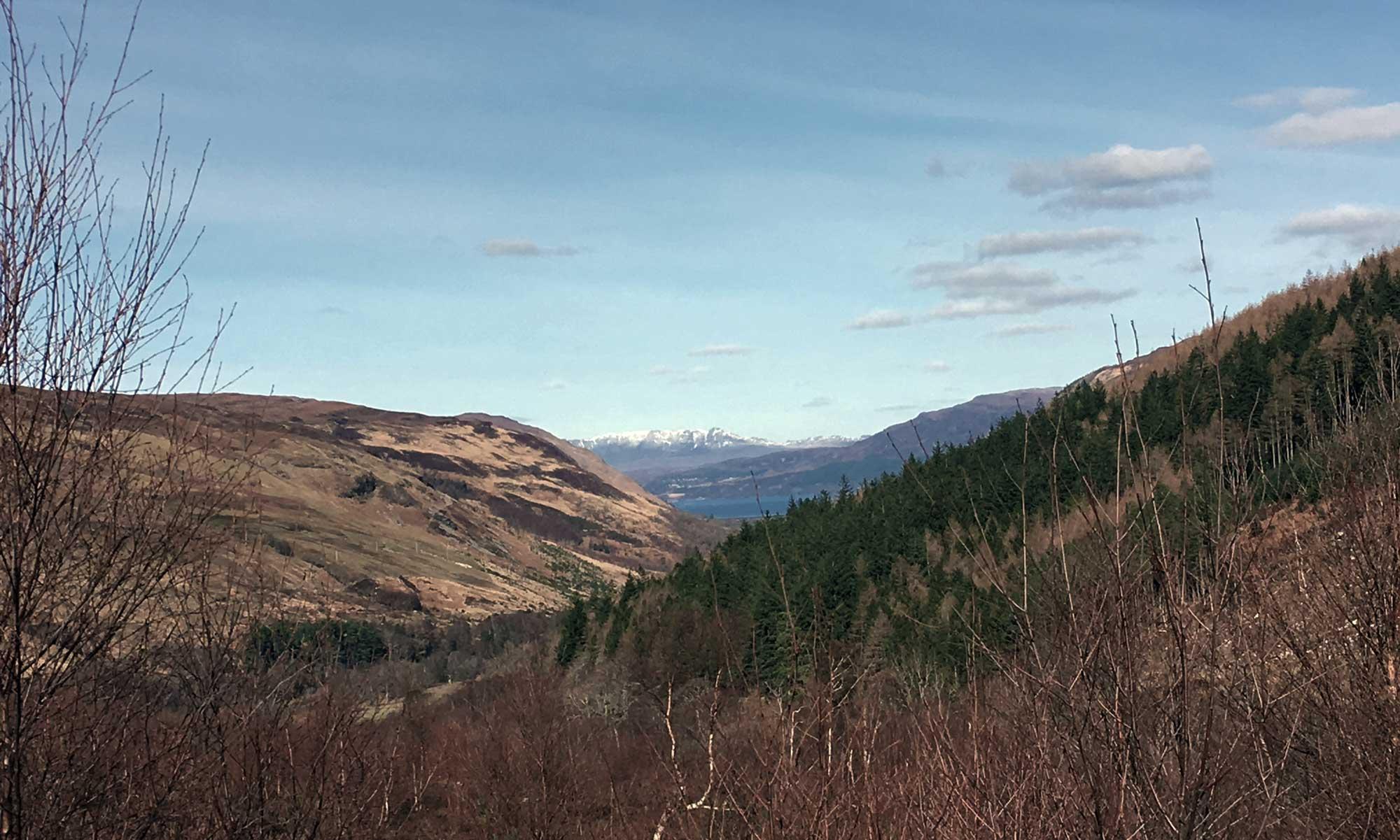 Blick vom Corrieshalloch Gorge Richtung Ullapool