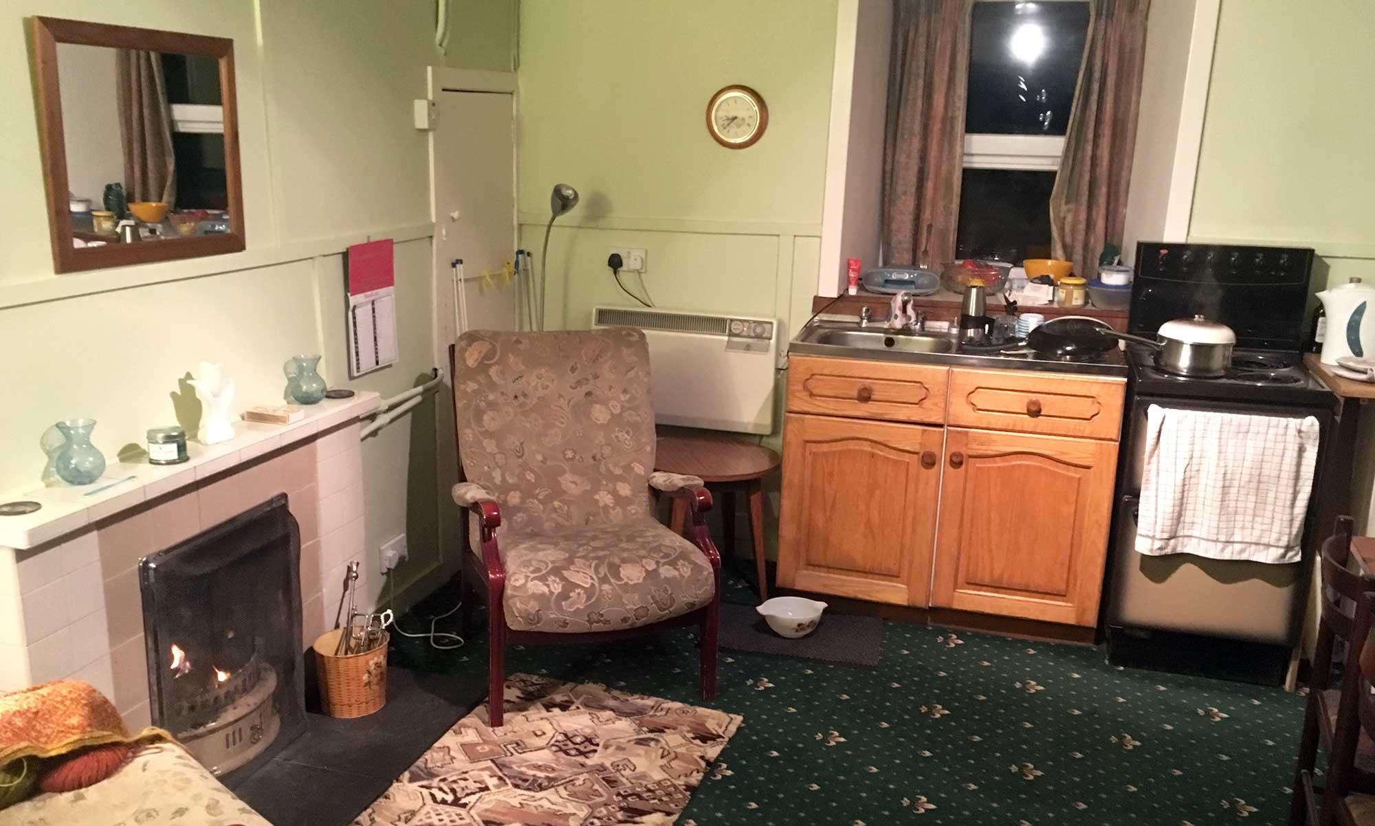 Das Wohnzimmer unseres Cottage