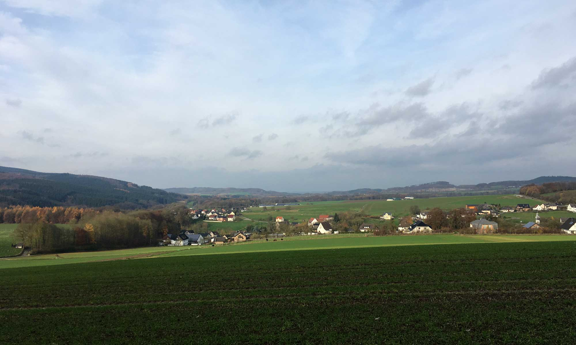 Blick von Beckum Richtung Hövel