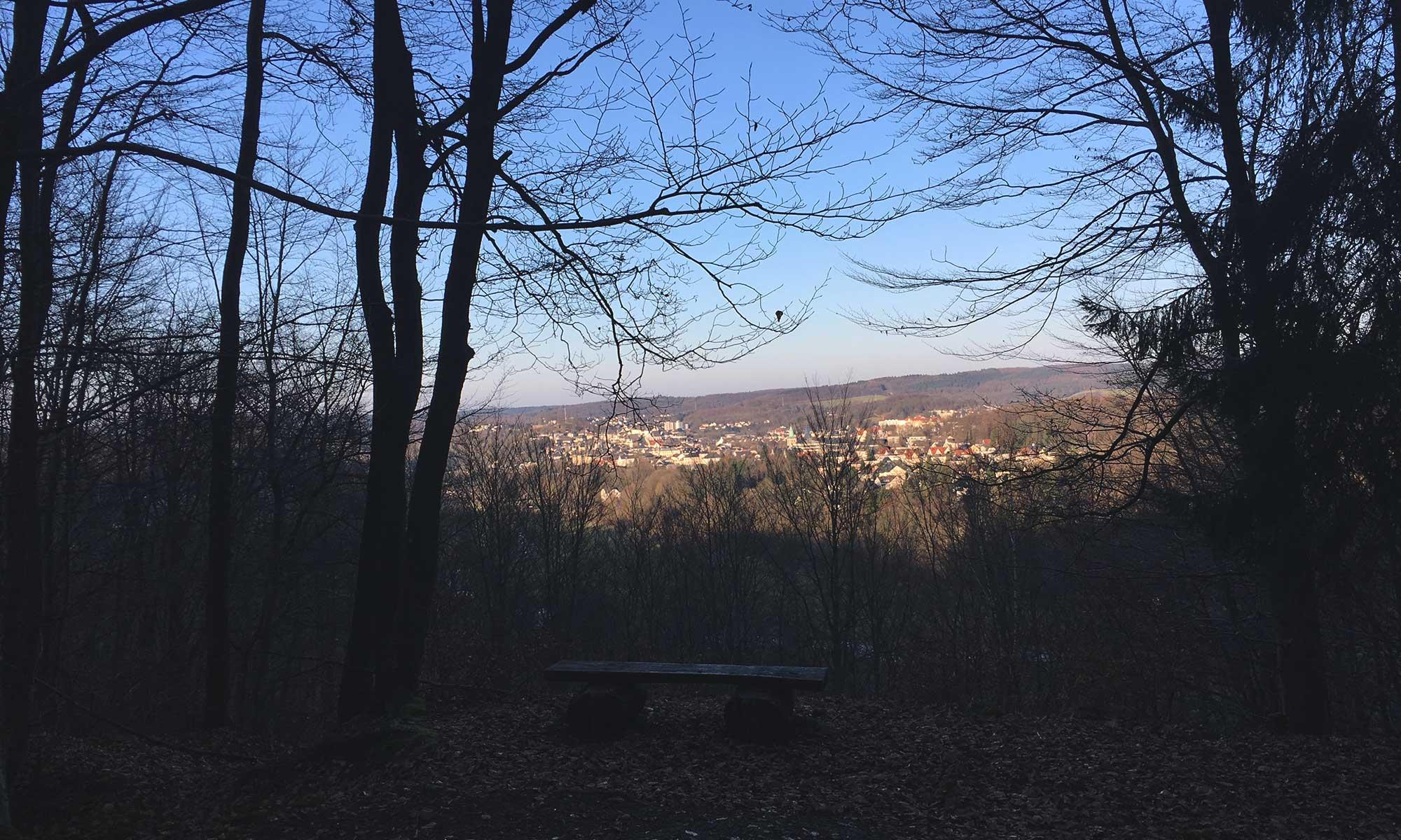 Arnsberg vom Wald aus betrachtet