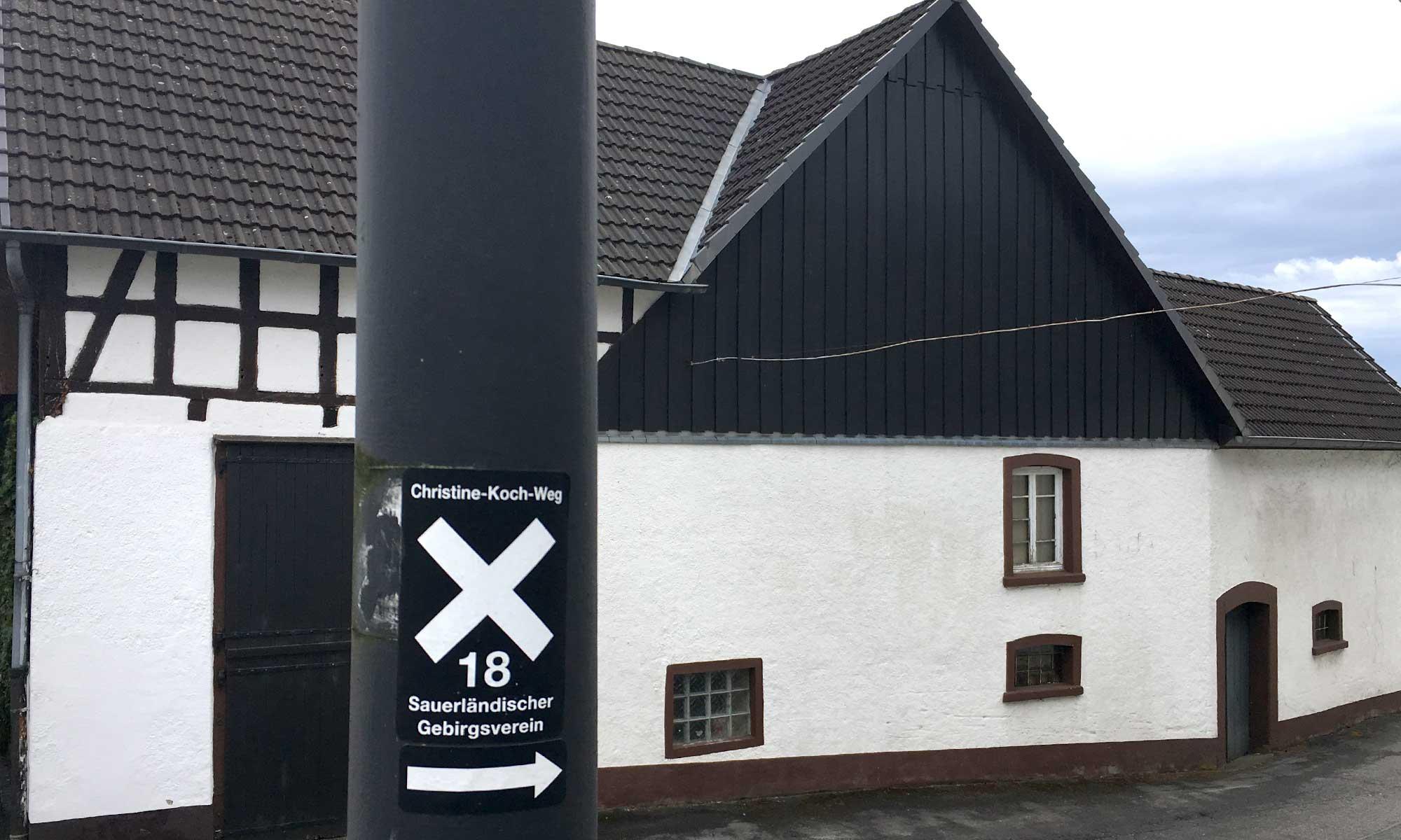 Langenholthausen Wegmarkierung Christine Koch Weg