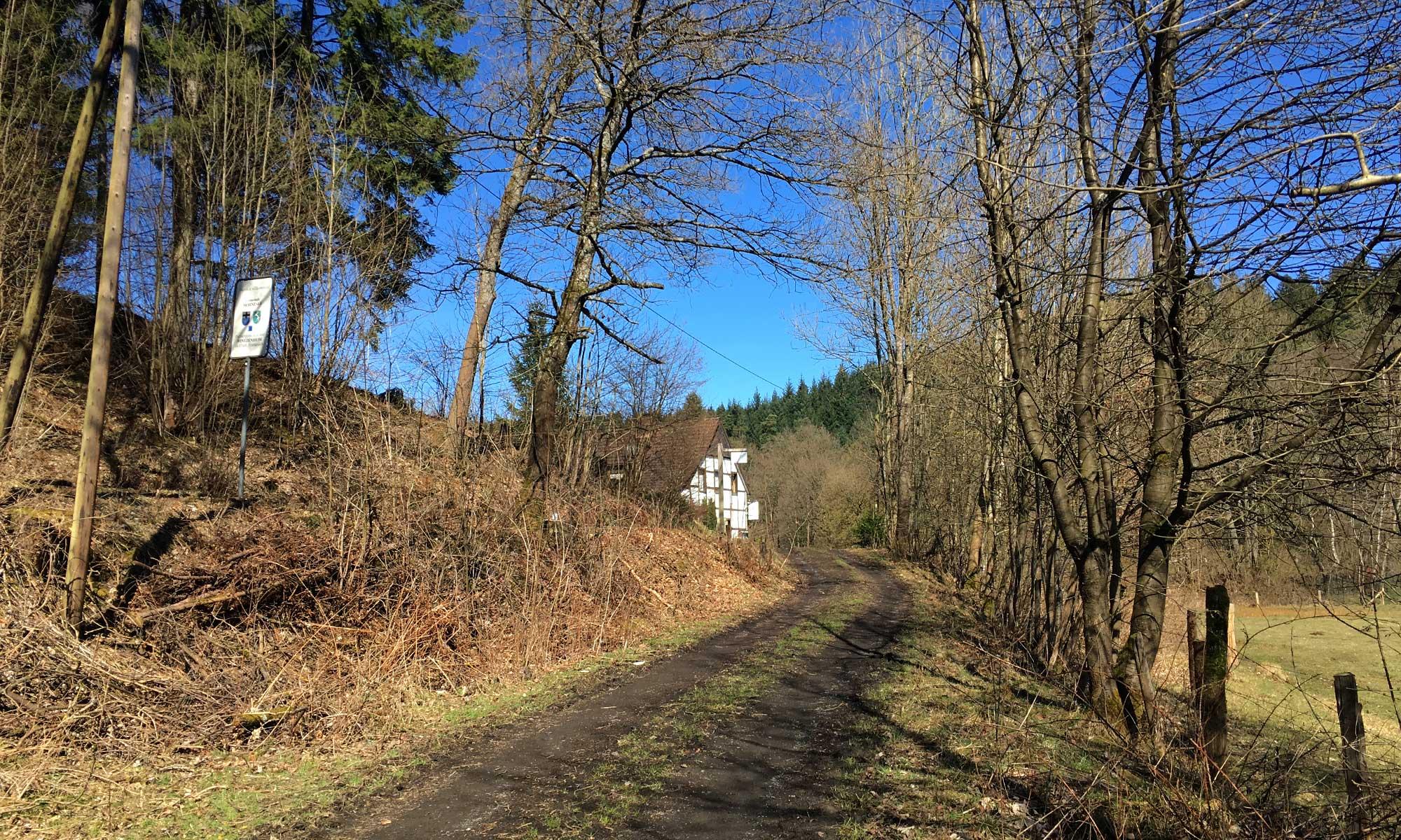 Blick zurück zum Landgasthof