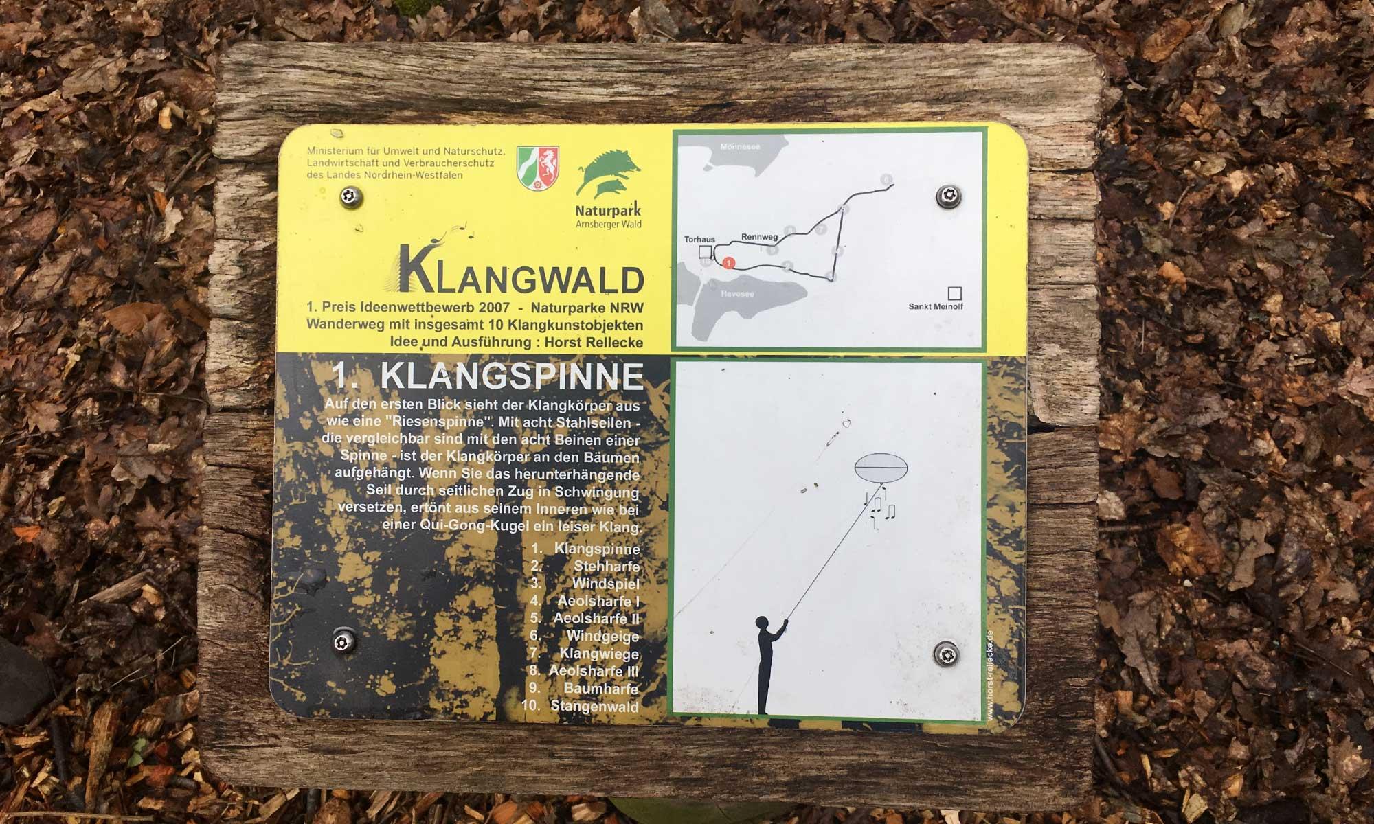 Klangwald Wanderkarte
