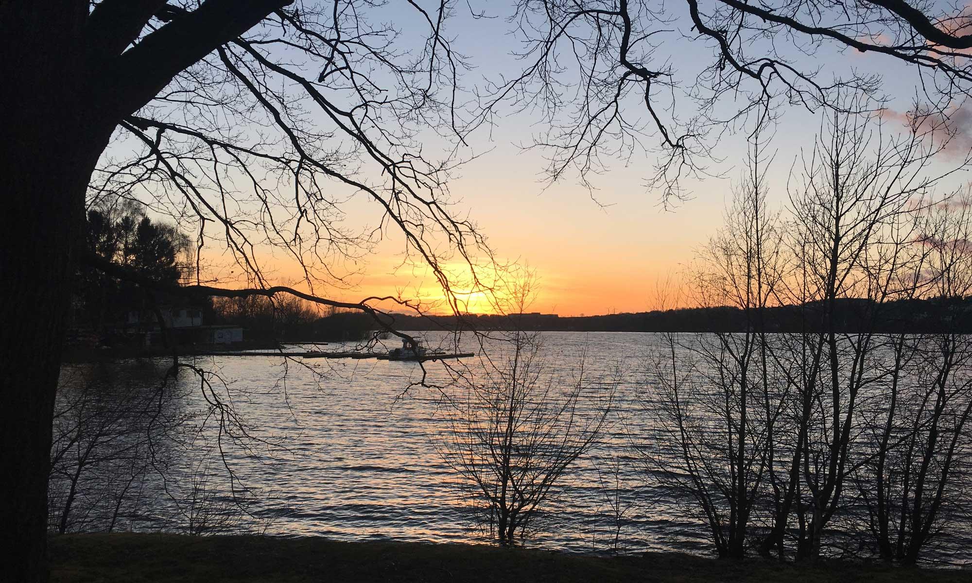 Möhne Talsperre Sonnenuntergang