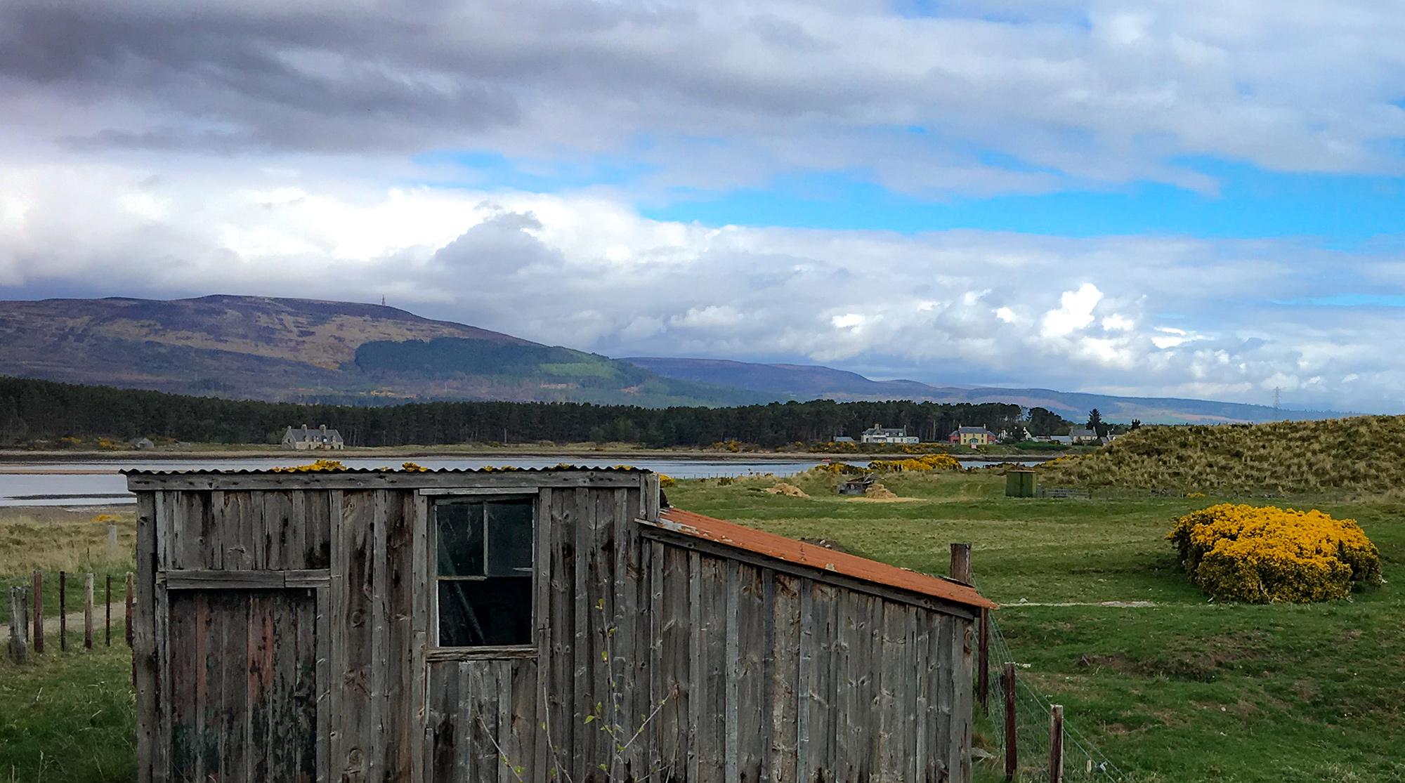 Hoözhütte am Loch Fleet
