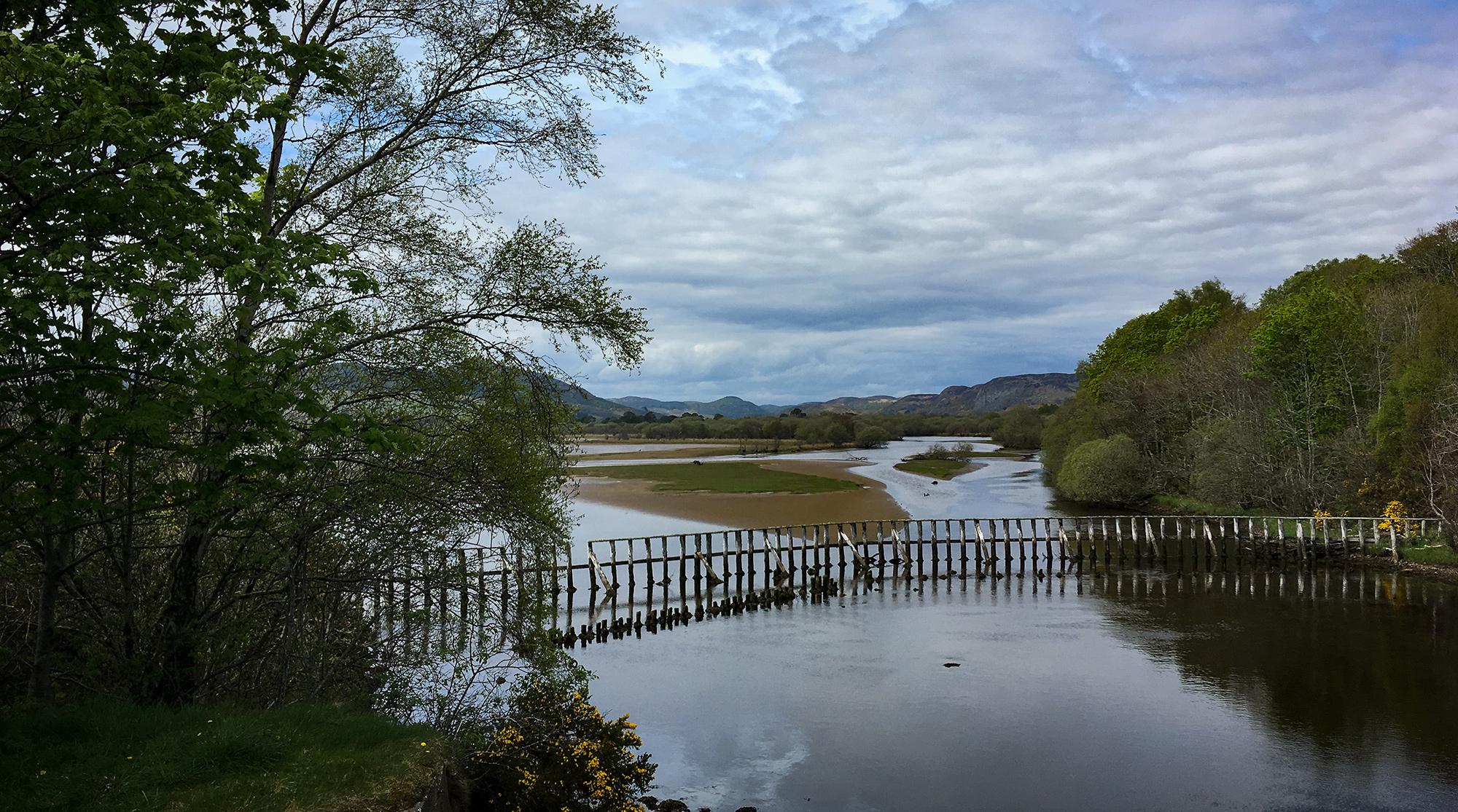 Loch Fleet landeinwärts