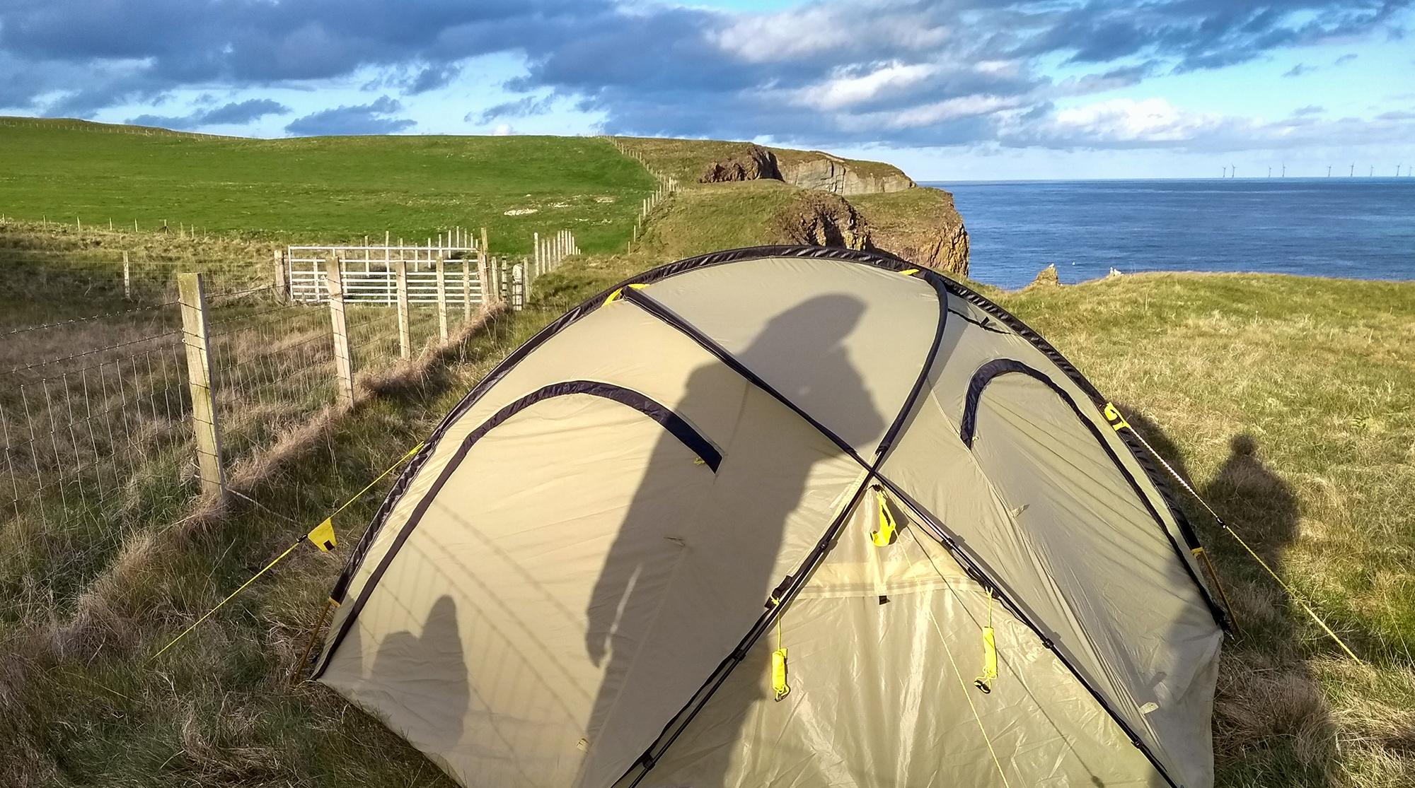 Wildcamping mit Wechsel Zelt