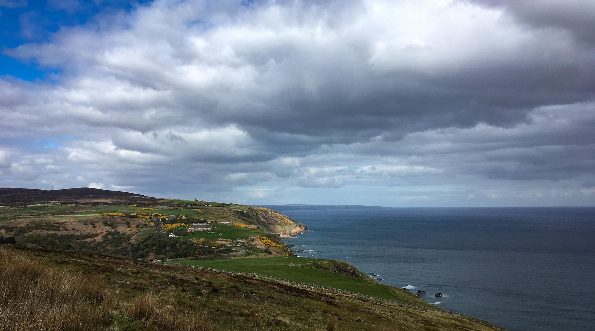 Küstenpanorama mit Berriedale