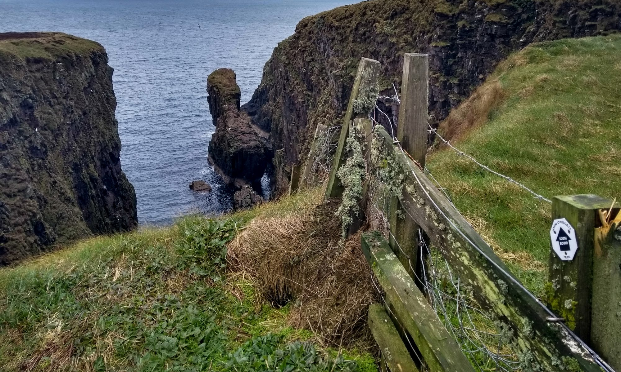 Zaunüberquerung auf dem John o'Groats Trail