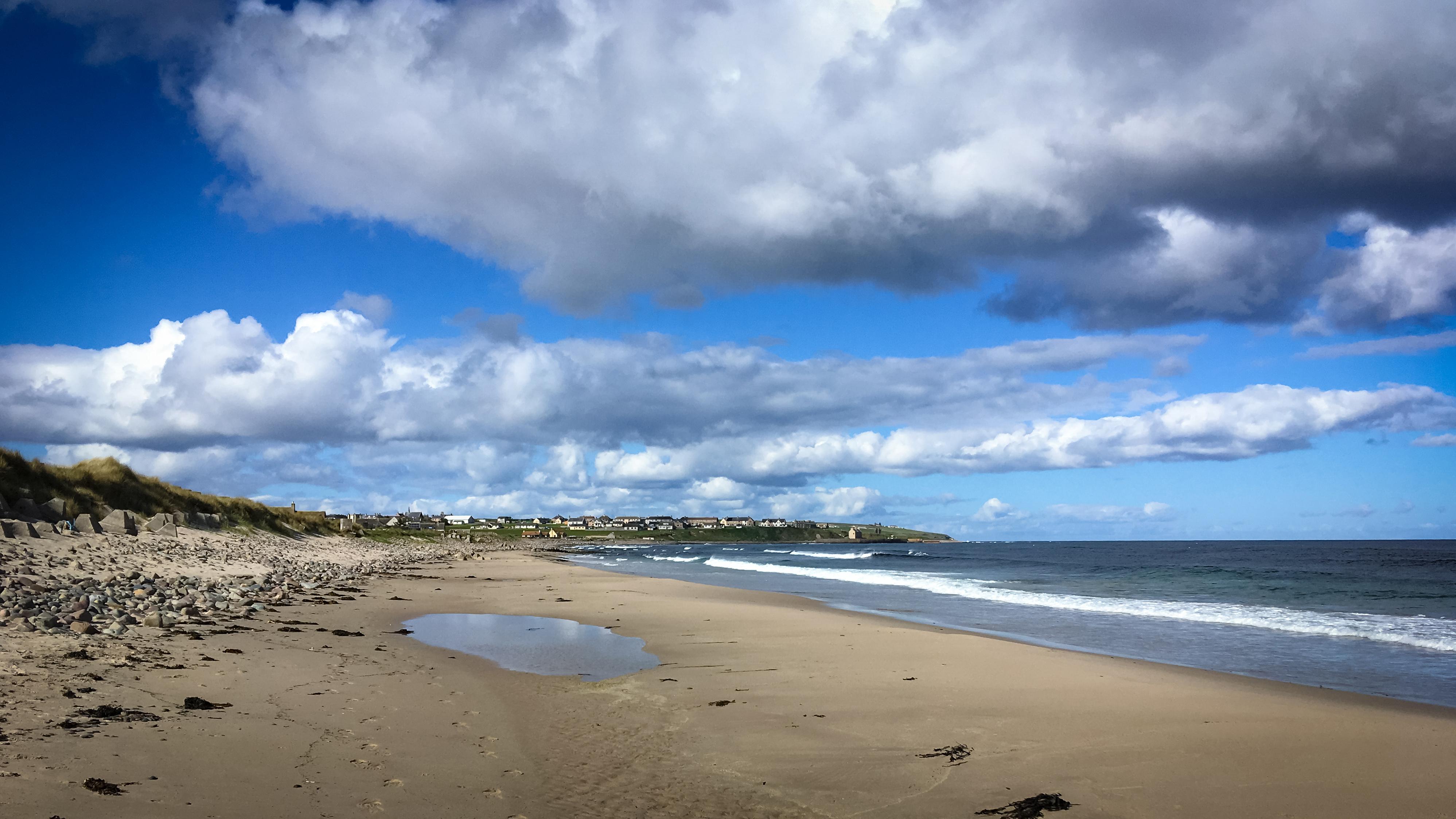 Strand mit Blick auf Keiss