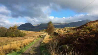 Strathblane Hills und Wolken