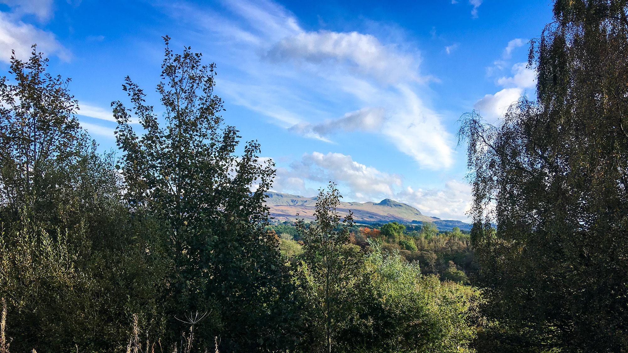 Blick zurück auf Strathblane Hills