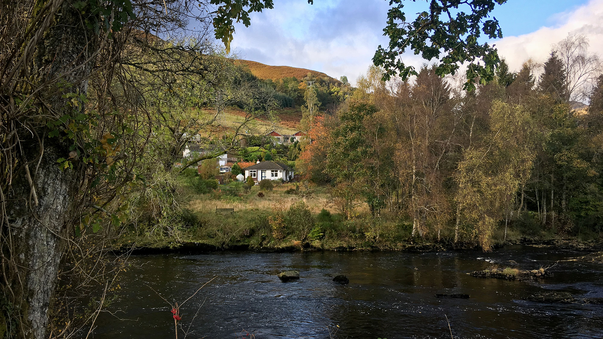 River Dochart und Cottages