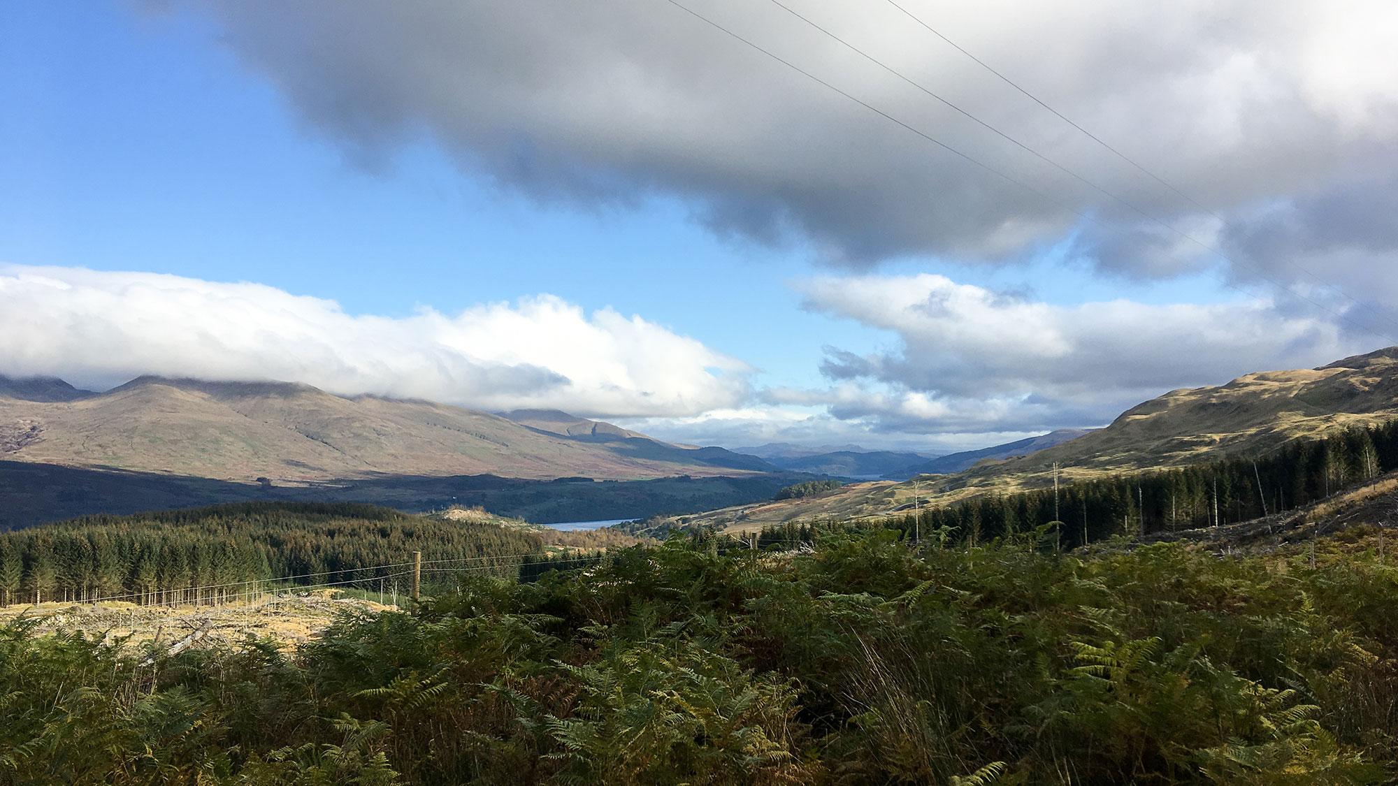 Blick auf Ben Lawers über Loch Tay