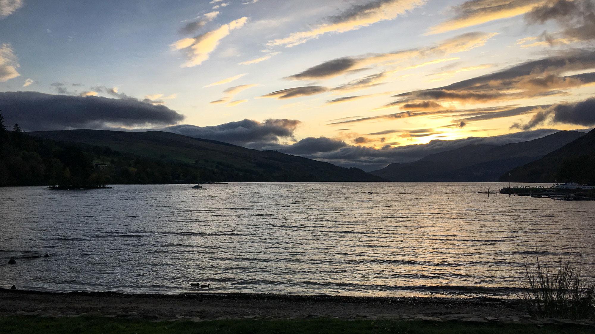 Loch Tay Sonnenuntergang in Kenmore