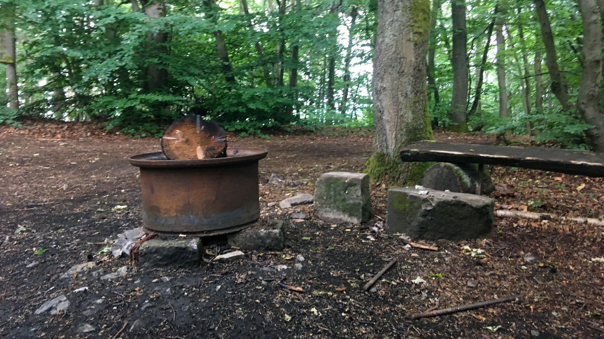 Feuerstelle beim Teufelsfels im Lützelsoon