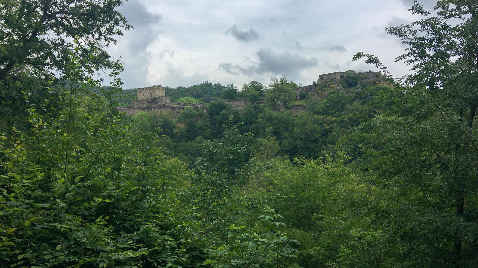 Große Burganlage Schnidtburg bei Bundenbach