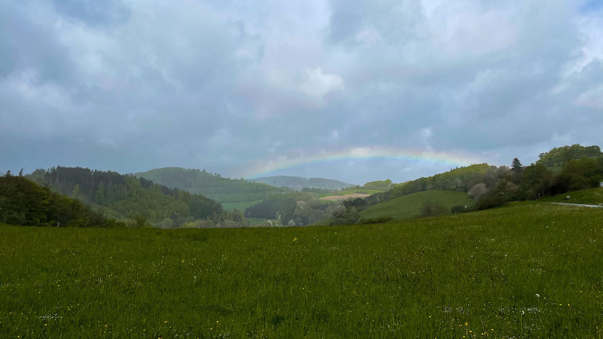 Regen und Sonne = Regenbogenzeit