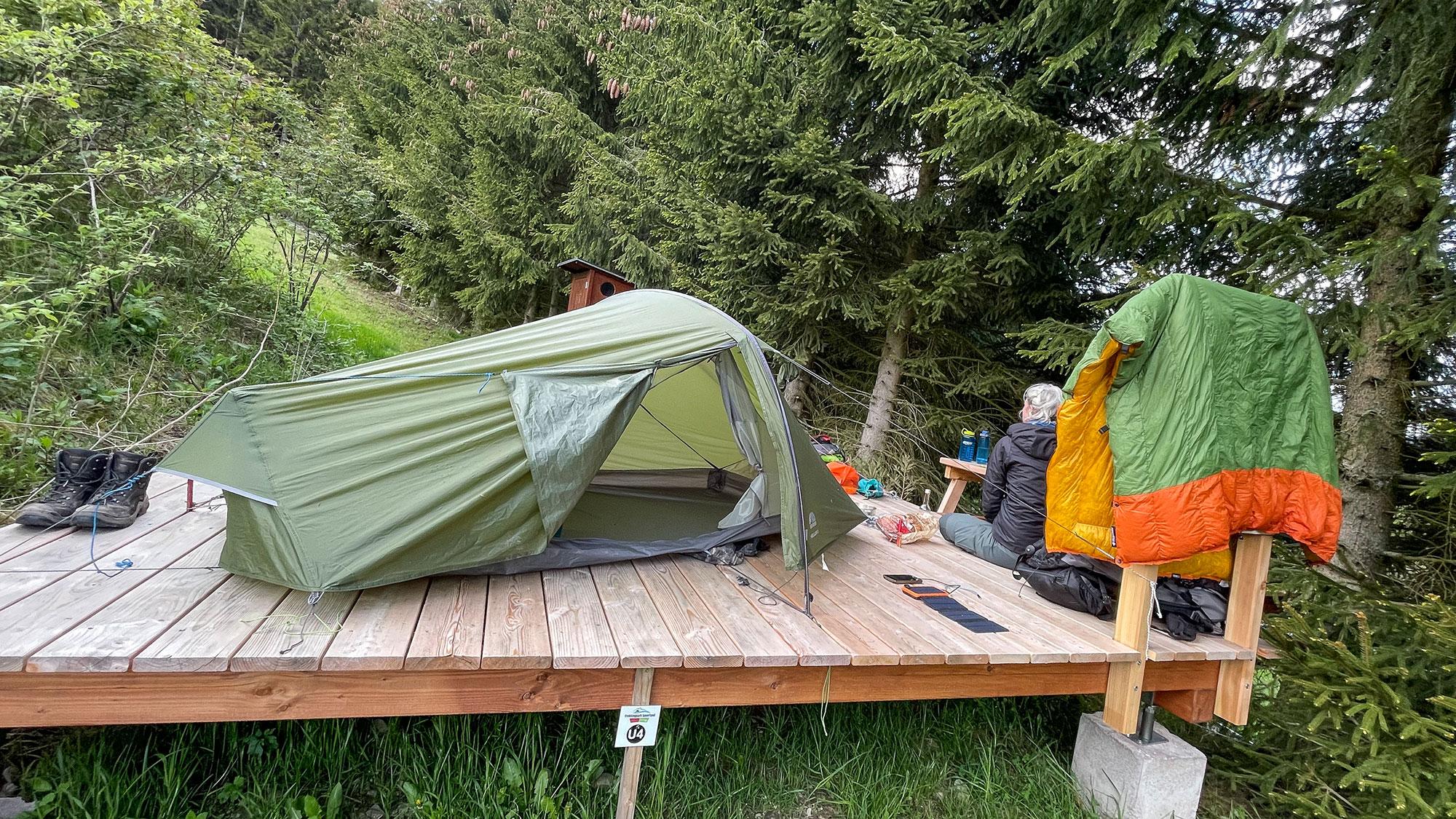 Trekkingplatz-Ritzhagen-Willingen und Vango UL Helium Zelt